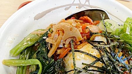 松屋「牛ビビン丼」2019年5月7日実物4
